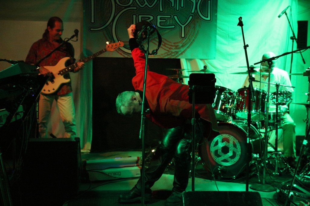 Dave Ostrowski, Billy Spillane, and Darin Brannon with Progressive Rock Tribute Band Downing Grey at Keegan Ales – #1